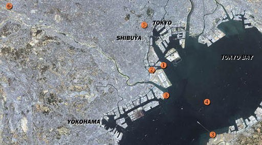 Map of Tokyo Bay and surroundings